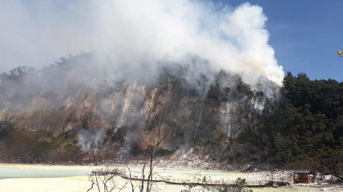 Luas Lahan Terbakar di Kawah Putih Ciwidey Sudah Mencapai 16 Hektare, 3 Unit Mobil Damkar Dikerahkan