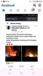 Tangkapan layar sebuah akun bernama Ahmad Anang memposting peristiwa kebakaran di Pertamina RU VI Balongan Indramayu dengan nada tak berempati. Postingan tersebut mendapatkan reaksi geram dari warganet yang melihatnya.