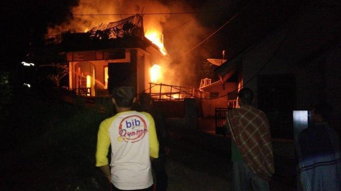 Rumah Warga di Cikadu Kuningan Hangus Terbakar, Sempat Terdengar Suara Ledakan, Rugi Ratusan Juta