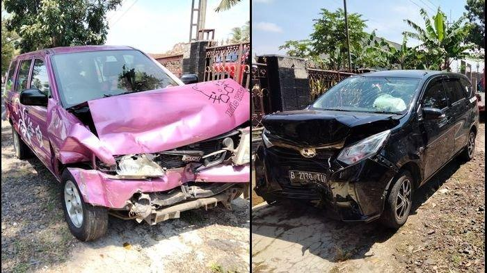 Mobil Hello Kitty dan Mobil Hitam Berplat B Tabrakan Adu Banteng di Kuningan, Saksi Ungkap Faktanya