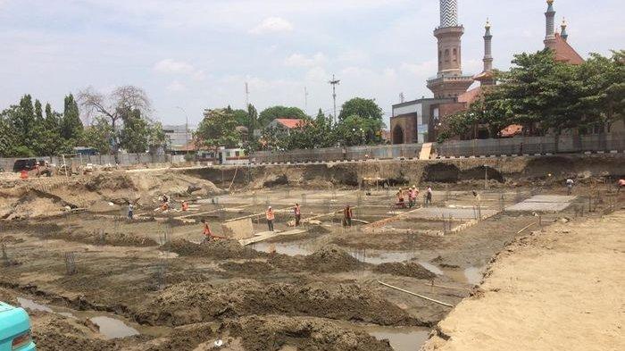 Ini 2 Pekerjaan Yang Sedang Digarap pada Revitalisasi Alun-alun Kejaksan Cirebon, Dana Hibah Pemprov