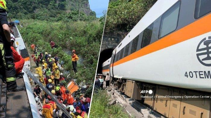 Kereta Api Tabrak Truk Hingga Keluar Rel, 36 Orang Tewas, 72 Orang Terjebak di dalam Terowongan