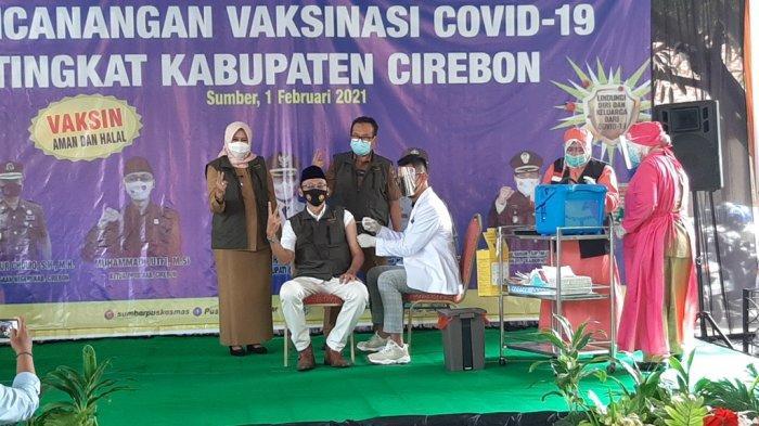 Vaksinasi Covid-19 di Kabupaten Cirebon Dimulai, Forkopimda Disuntik Pertama