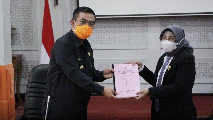 DPRD Kota Cirebon Serahkan Rekomendasi LKPj Wali Kota Akhir Tahun Anggaran 2020
