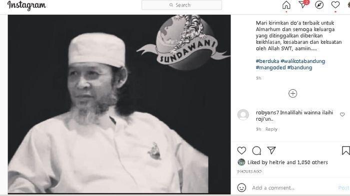 INNALILLAHI, Mang Oded Unggah Meninggalnya Ketua Umum DPP Paguyuban Sundawani Lucky Lesmana