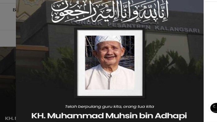 KH Muhammad Muhsin Meninggal, Para Santri Kehilangan, Ini Sosok Ayah Teh Ninih di Mata Para Santri