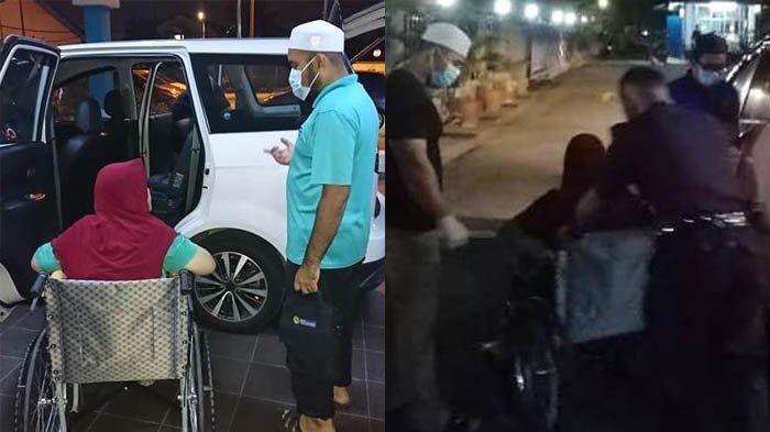 Ibu Berkursi Roda Ditinggalkan Anak di Pinggir Jalan, Dibekali Koper dan Popok, Sang Ibu Mendoakan