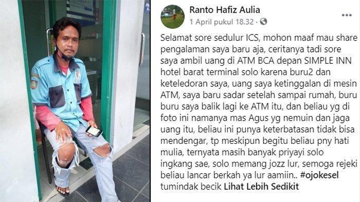 VIRAL Tukang Parkir Tuna Rungu Kembalikan Uang Ratusan Ribu yang Ia Temukan Kepada Pemiliknya