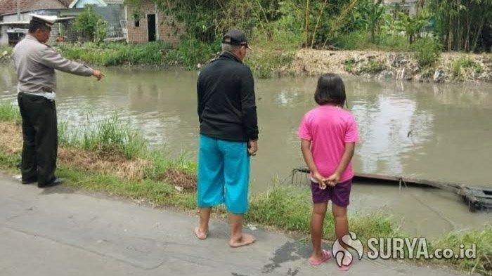 Mobil Pikap Nyemplung ke Sungai Wonoayu Sidoarjo, Si Sopir Enggak Fokus, Menyetir Sambil Telponan