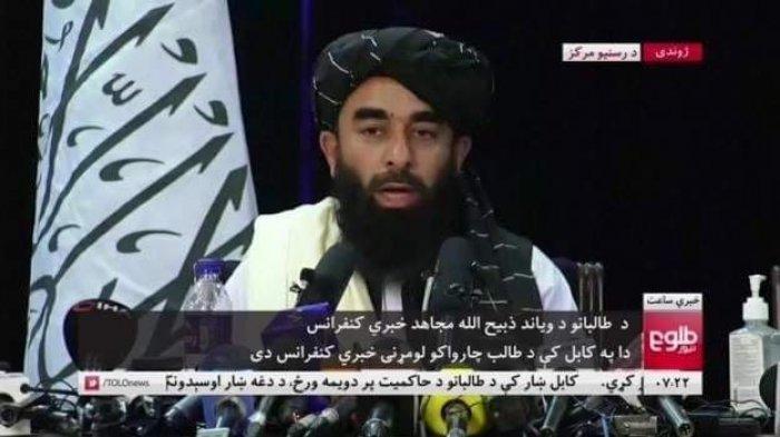 Taliban Gelar Jumpa Pers Pertama, Janji Hormati Kaum Wanita Afghanistan Sesuai Hukum Islam