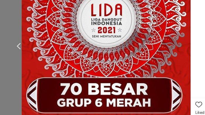 Sedang Berlangsung Konser TOP 70 LIDA 2021 Grup 6 Merah di Indosiar, Dukung Farida Duta Jabar