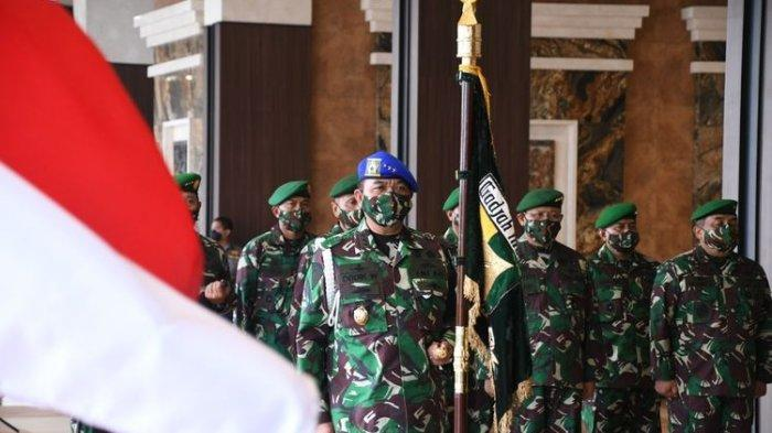 KSAD Jenderal Andika Perkasa Terima Lapor Naik Pangkat 8 Perwira Tinggi, Satu Orang Jadi Bintang Dua