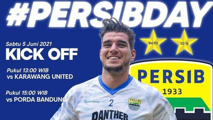 LIVE STREAMING Persib Bandung vs Porda Kota Bandung Pukul 15.00 Sore, Pukul 13.00 vs Karawang United