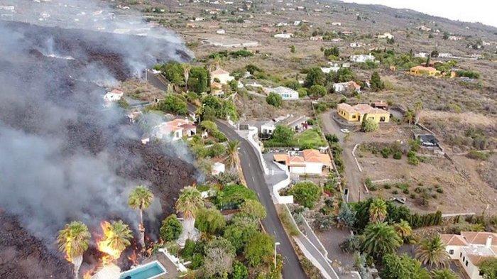 Gunung Berapi di Pulau La Palma Spanyol Meletus, Ratusan Rumah Hancur dan 5 Ribu Warga Dievakuasi