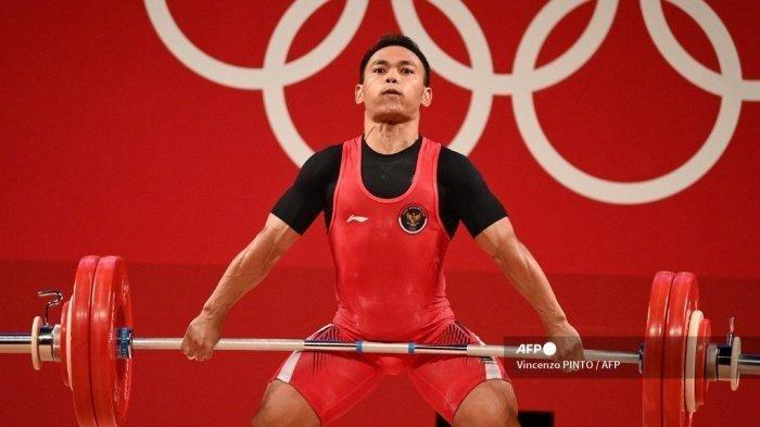 Hasil Angkat Besi Olimpiade Tokyo, Eko Yuli Dikalahkan Lifter China, Sumbang Perak untuk Indonesia