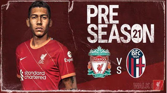 SEDANG Berlangsung Live Streaming Liverpool vs Bologna, Uji Coba Jelang Liga Inggris dan Liga Italia