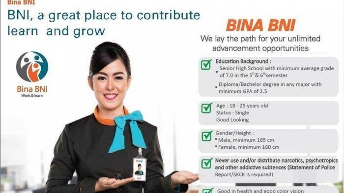 Info Lowongan Kerja di BUMN, Bank BNI dan PT Pos Indonesia Buka Loker Terbaru, Ada 7 Posisi