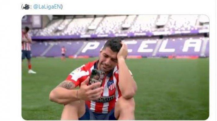 Suarez Menangis Bawa Atletico Madrid Juara Liga Spanyol, Singgung Barcelona yang Sudah Membuangnya