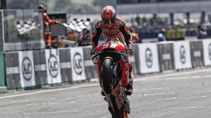 Marc Marquez Juara MotoGP Aragon 2019, Franco Morbidelli Crash