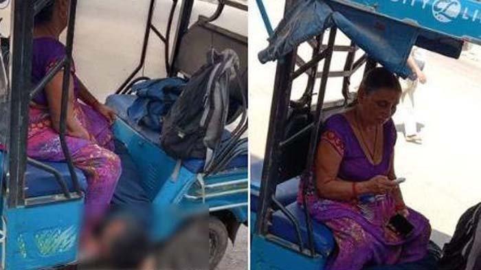 Memilukan Seorang Ibu Bawa Jenazah Putranya dengan Becak di India, Disimpan di Dekat Kakinya