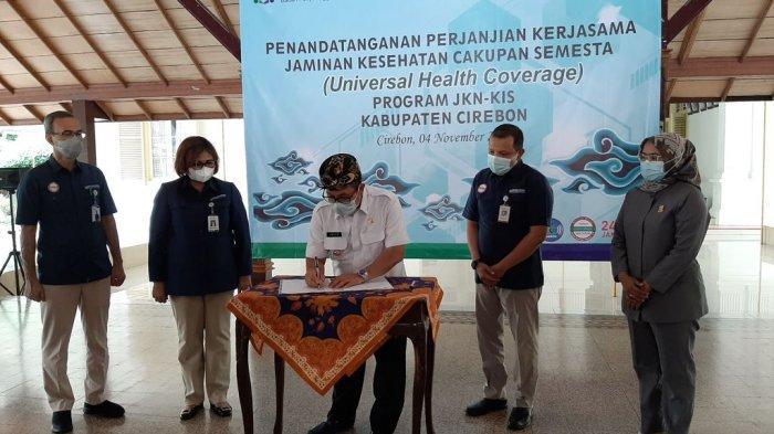 Capai Cakupan Kesehatan Semesta, Pemkab Cirebon dan BPJS Kesehatan Tandatangani Kerja Sama