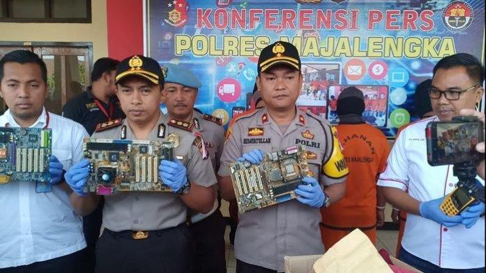 Ungkap Kasus Pencurian di PT TLI, Polres Majalengka Tangkap Petugas Keamanan Yang Curi Motherboard