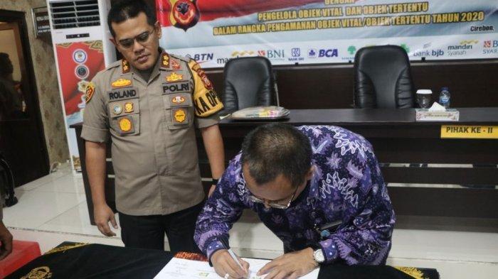 Polres Cirebon Kota Tanda Tangani MoU Pengamanan Obyek Vital Perbankan