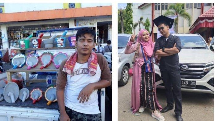 KISAH MENGHARUKAN, Seorang Penjual Cobek Sukses Kuliahkan Istrinya Hingga S2 di Makassar