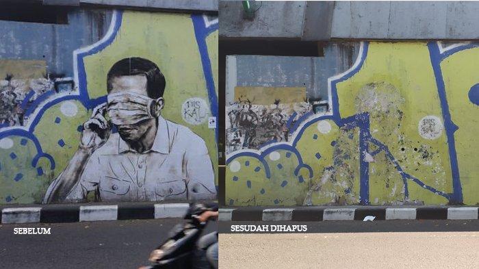 Mural Mirip Presiden Jokowi di Jalan Layang Pasupati Bandung Mendadak Hilang, Siapa yang Menghapus?