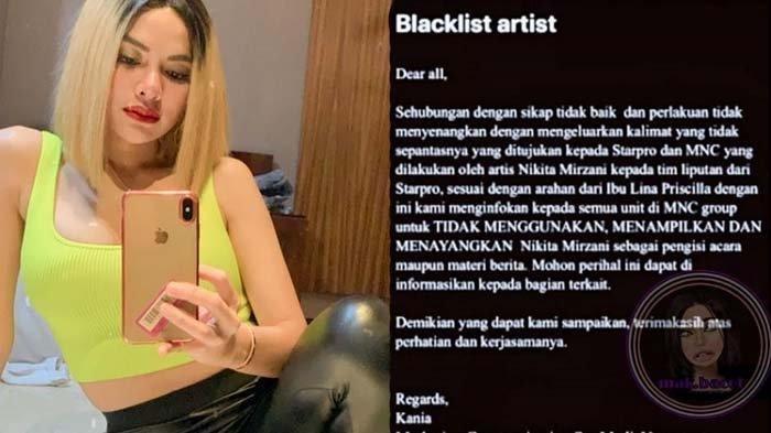 Artis Seksi Nikita Mirzani Diblacklist dari Salah Satu Stasiun TV, Begini Kronologis dan Penyebabnya