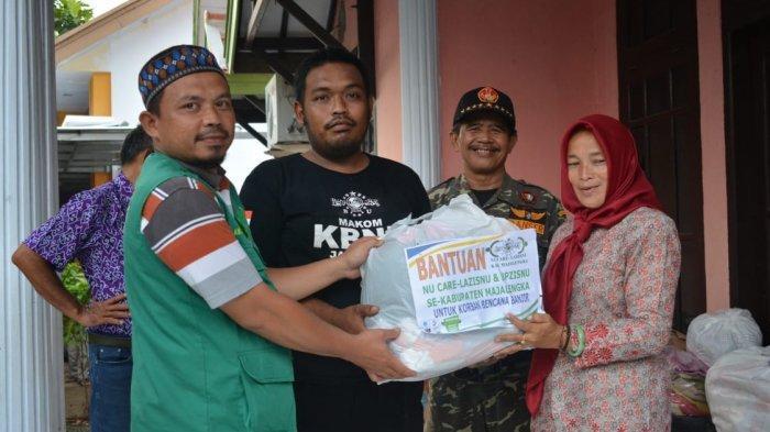 NU Care-Lazisnu Salurkan Bantuan Korban Banjir di Tiga Kecamatan di Majalengka