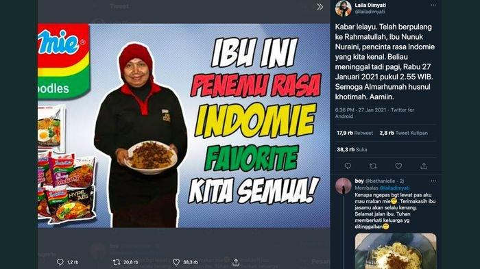 Sosok Nunuk Nuraini Penemu Bumbu Indomie, Lulusan Unpad Ini Sudah Berpulang ke Pangkuan Alloh SWT
