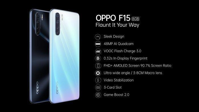 DAFTAR Harga HP Oppo Terbaru Januari 2020, Seri Terbaru Oppo F15 Dijual Harga Rp 3,8 Juta