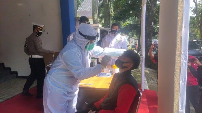 Para Pengendara Pelanggar Protokol Kesehatan di Majalengka Wajib Jalani Rapid Test Antigen