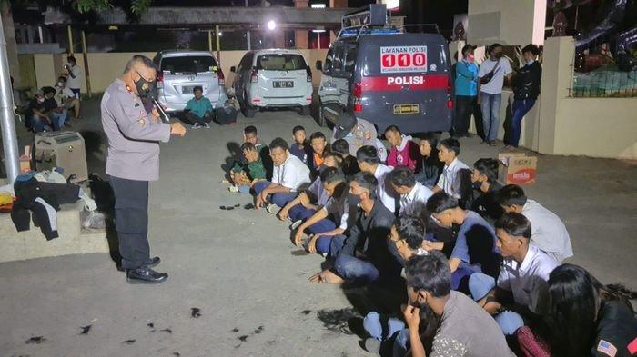 Tawuran Antar Pelajar Nyaris Pecah di Indramayu, Polisi Sigap Amankan 22 Pelajar SMP dan SMA