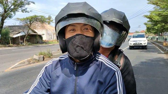 Sarnoto Nekat Mudik dari Cibubur ke Tegal, Berangkat Saat Sahur, Siang Sudah Lolos Sampai Indramayu