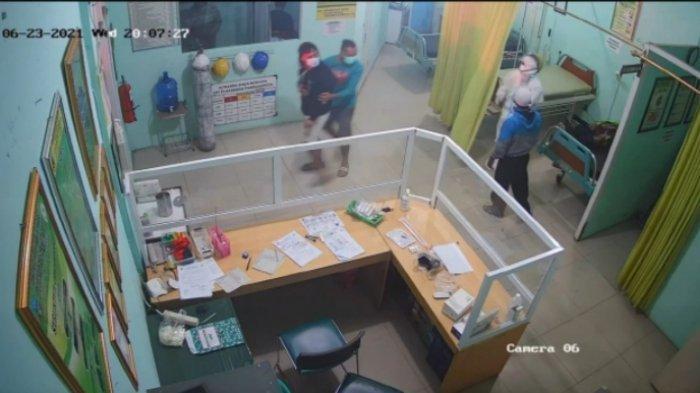 Perawat di Pameungpeuk Garut Dipukul Keluarga Pasien Karena Terlalu Lama Memakai APD, Terekam CCTV