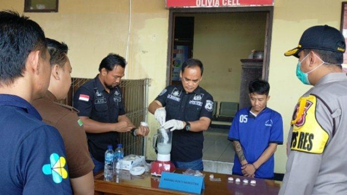 Sat Reserse Narkoba Polres Majalengka Musnahkan Barang Bukti Sabu Seberat 465 gram