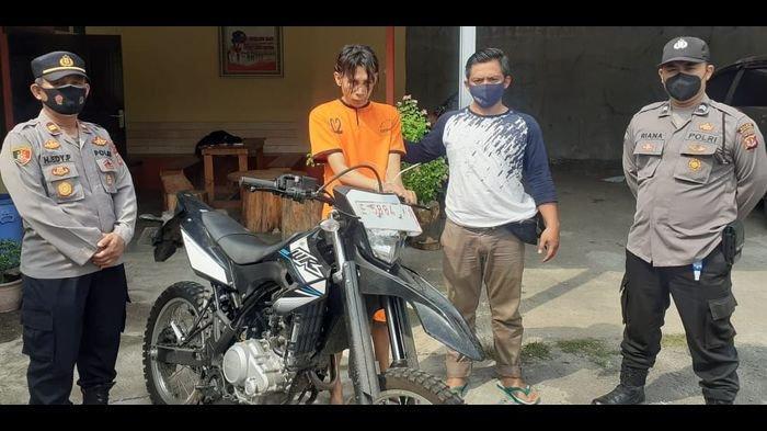 Motor Yamaha WR Nyaris Digondol Maling, Teriakan Tatang Bikin Pencuri Takut Hingga Ditangkap Warga