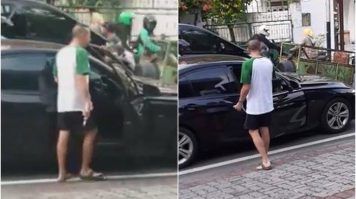 SEDANG VIRAL, Pria Pakai Celana Pendek, Pengemudi BMW di Jakarta Todongkan Pistol ke Orang Lain
