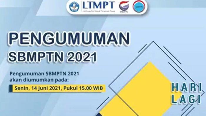 Link Pengumuman Hasil SBMPTN 2021, Jangan Lupa Cek Kamu Lolos Atau Tidak Pukul 15.00 WIB