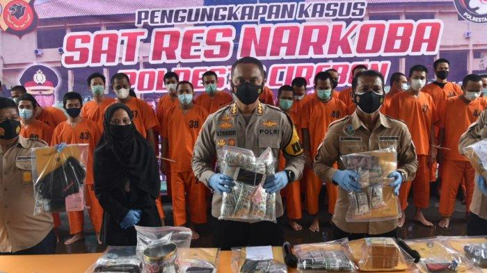 Polresta Cirebon Ungkap 27 Kasus Narkoba, Puluhan Tersangka Pengedar Sabu, Ganja, dan Obat Diciduk