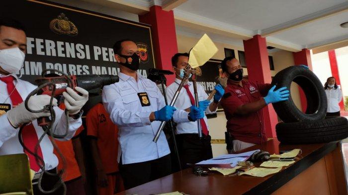 Kawanan Pencuri Bobol Toko Ban di Majalengka, Gondol Puluhan Ban Mobil, Terungkap Saat Bertransaksi