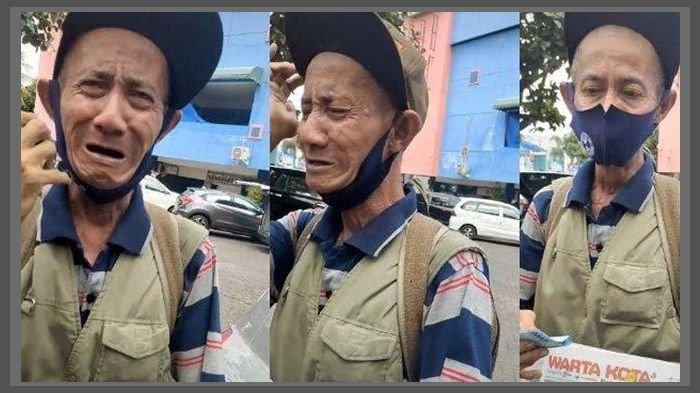 Penjual Koran Nangis Korannya Dibeli Tak Sesuai Harga Oleh Anggota TNI AU, Kini Dapat Donasi