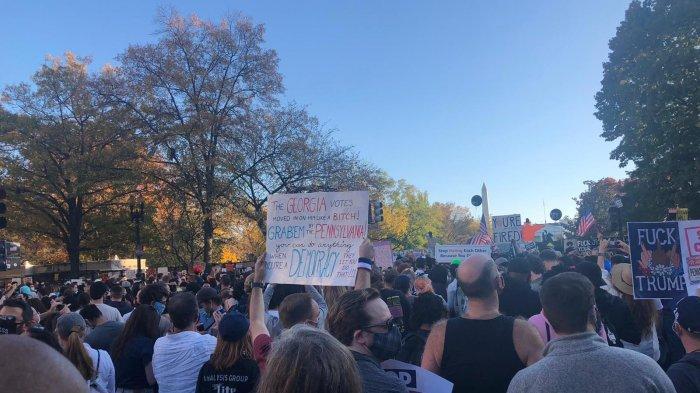Rayakan Kemenangan Pendukung Joe Biden dan Kamala HarrisTumpah Ruah di Seluruh Kota Besar Amerika