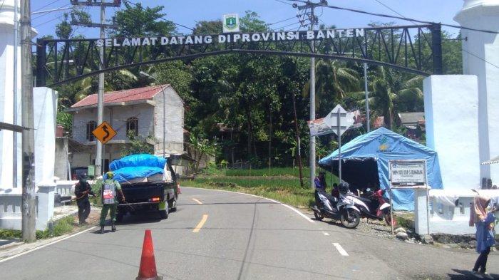 Cegah Penyebaran Covid-19, Perbatasan Jawa Barat - Banten Dijaga Ketat Petugas Gabungan
