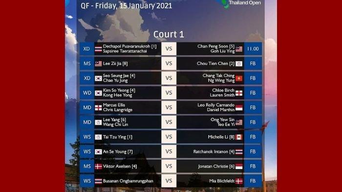 SEDANG BERLANGSUNG Perempat Final Thailand Open 2021, Berikut Link Live Streaming TV Online TVRI