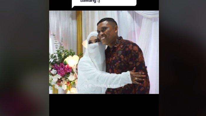 Viral di TikTok, Pernikahan Wanita Bercadar Ini Mengharukan, Dihadiri Ayahnya yang Seorang Pendeta