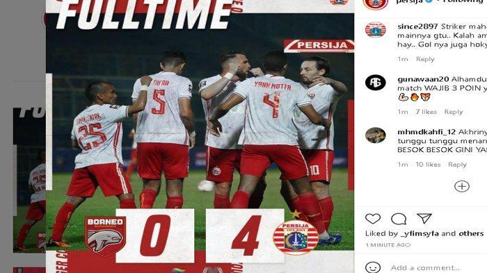 Persija Jakarta Gulung Borneo FC 4-0, Punya Peluang Besar untuk Lolos ke Babak Berikutnya