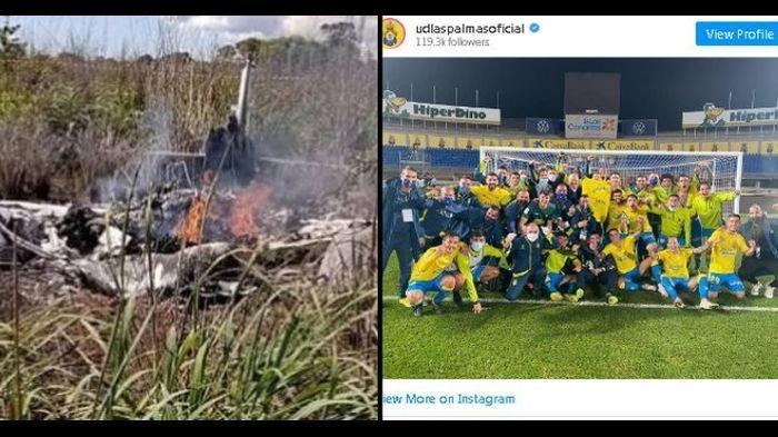 KECELAKAAN MAUT, Pesawat Jatuh Tewaskan 4 Pemain dan Presiden Klub Tim Sepakbola di Brasil